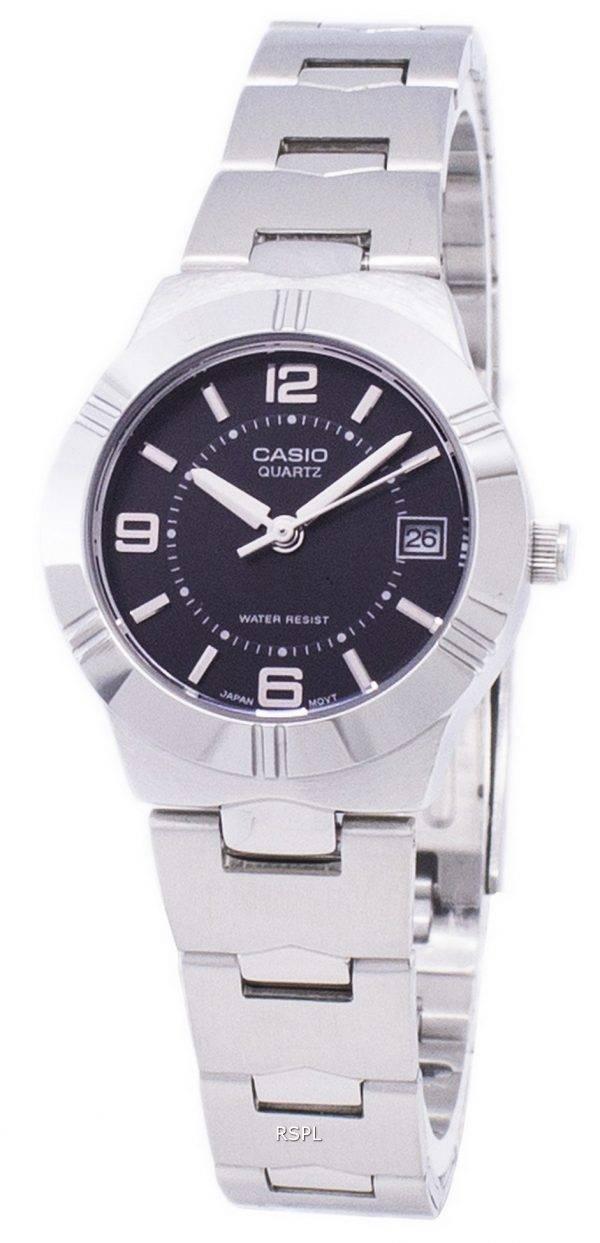 Montre Casio Enticer Quartz analogique cadran noir LTP-1241D-1ADF LTP-1241D-1 a féminin