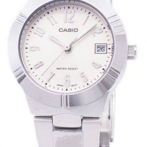 Montre Casio Enticer Quartz analogique cadran blanc LTP-1241D-7A2DF LTP-1241D-7bis féminin