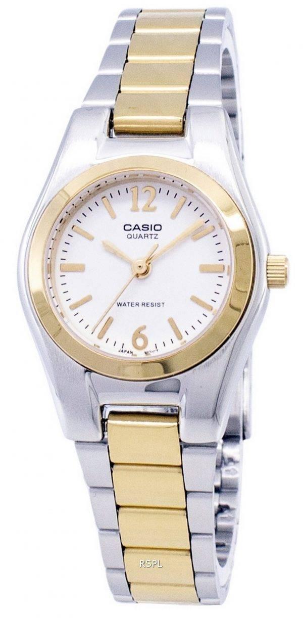 Casio Enticer quartz analogique cadran blanc Montre LTP-1253SG-7ADF LTP-1253SG-7A femmes