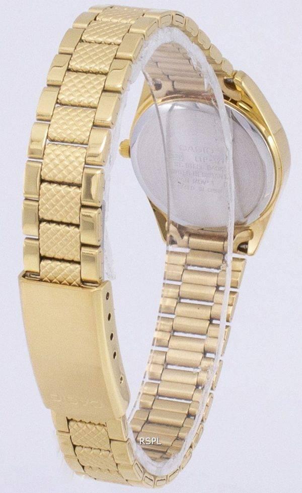 Casio à quartz analogique Gold Tone cadran blanc Montre LTP-1274G-7ADF LTP-1274G-7A femmes