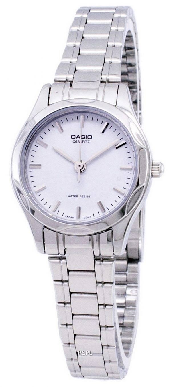 Casio à quartz analogique cadran blanc LTP-1275D-7ADF LTP-1275D-7A Montre Femme