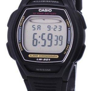 Montre Casio alarme numérique Chrono Illuminateur LW-201-1AVDF femmes