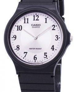 Montre Casio Quartz analogique cadran blanc MQ-24-7B3LDF MQ-24-7B3L masculin