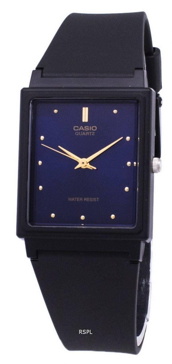 Casio classique Quartz analogique cadran bleu rectangulaire MQ-38-2ADF MQ-38-2 a montre homme