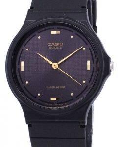 Montre Casio Quartz Enticer analogique cadran noir MQ-76-1ALDF MQ-76-1AL homme