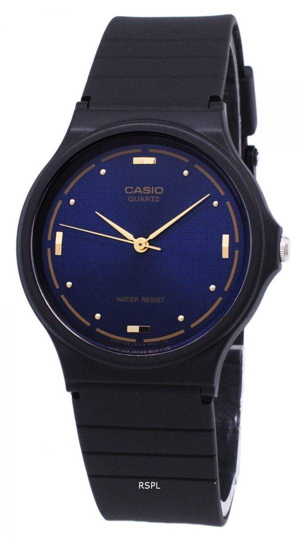 Montre Casio Quartz Enticer analogique cadran bleu MQ-76-2ALDF MQ-76-2AL homme
