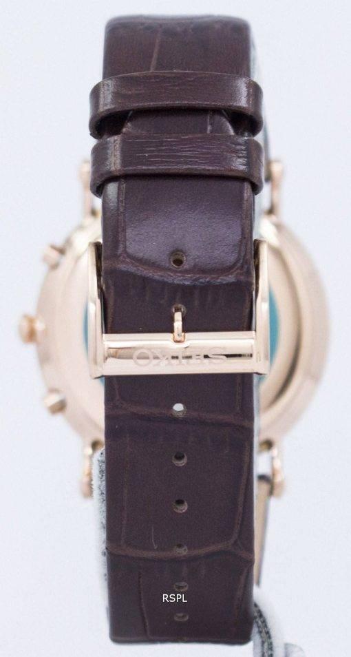 Montre Seiko Premier Chronograph Quartz alarme SNAF82 SNAF82P1 SNAF82P hommes