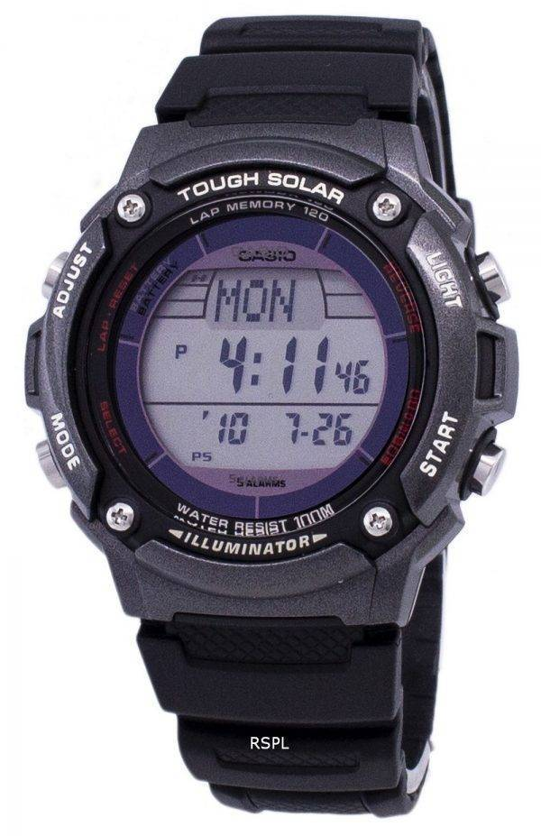 Casio Digital Tough Solar 5 alarmes illuminateur W-S200H-1BVDF montre homme