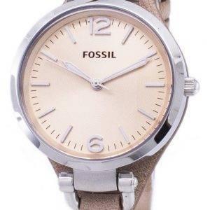 Fossil ES2830 Géorgie sable en cuir montre des femmes