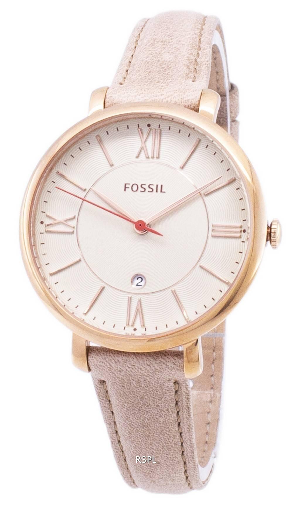 Bracelet Fossil En Blanc Montre Jacqueline Camel Cadran Es3487 Cuir XuOZPwkTi