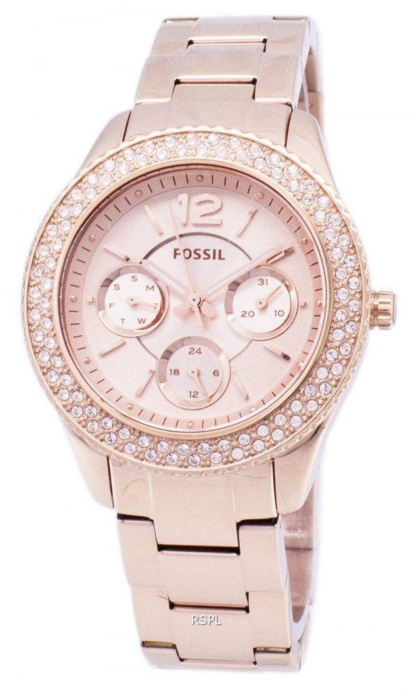Fossil Stella multifonctions Crystal-Accentué Montre ES3590 femmes