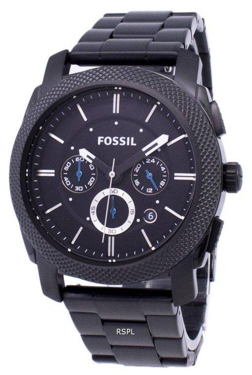 Machine fossile Chronograph IP noir inox FS4552 montre homme
