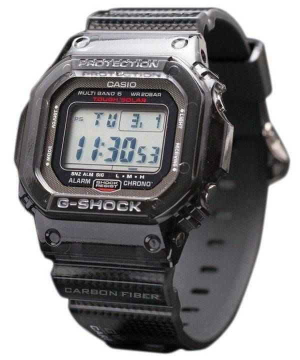 Casio G shock GW-S5600-1JF Carbon Fiber insérer bande MULTI bande 6 montre en édition limitée