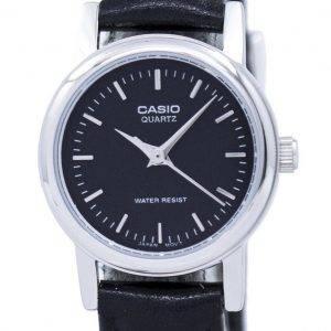 Montre Casio Quartz analogique cadran noir LTP-1095E-1ADF LTP-1095E-1 a féminin