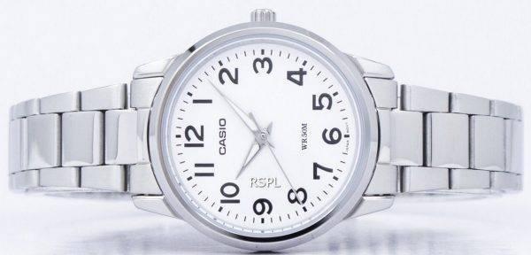 Montre Casio Enticer Quartz analogique cadran blanc LTP-1303D-7BVDF LTP-1303D-7BV féminin