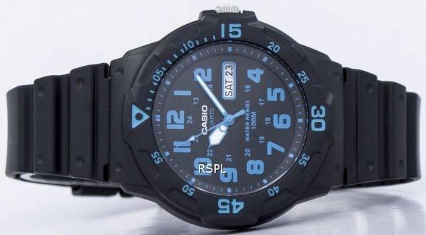 Montre Casio Quartz 100M cadran noir analogique MRW-200H-2BVDF MRW-200H-2BV homme