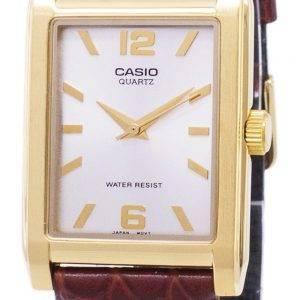 Casio Enticer Quartz analogique cadran argent PSG-1235GL-7ADF du PSG-1235GL-7 a cuir montre homme