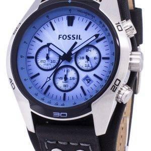 Coachman fossile Chronograph cuir noir CH2564 montre homme