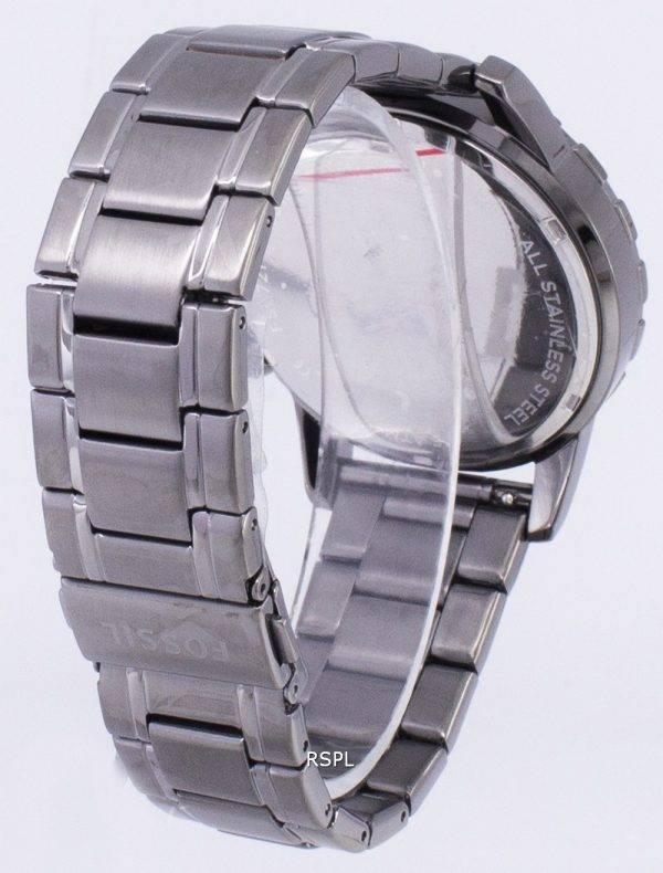 Doyen de fossile Chronograph fumée grise Ion plaqué FS4721 montre homme