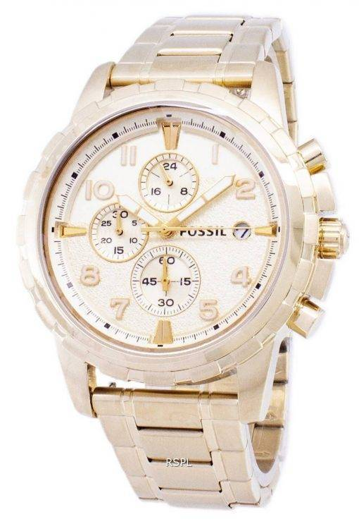 Dean fossile Chronograph Gold Tone inox FS4867 montre homme