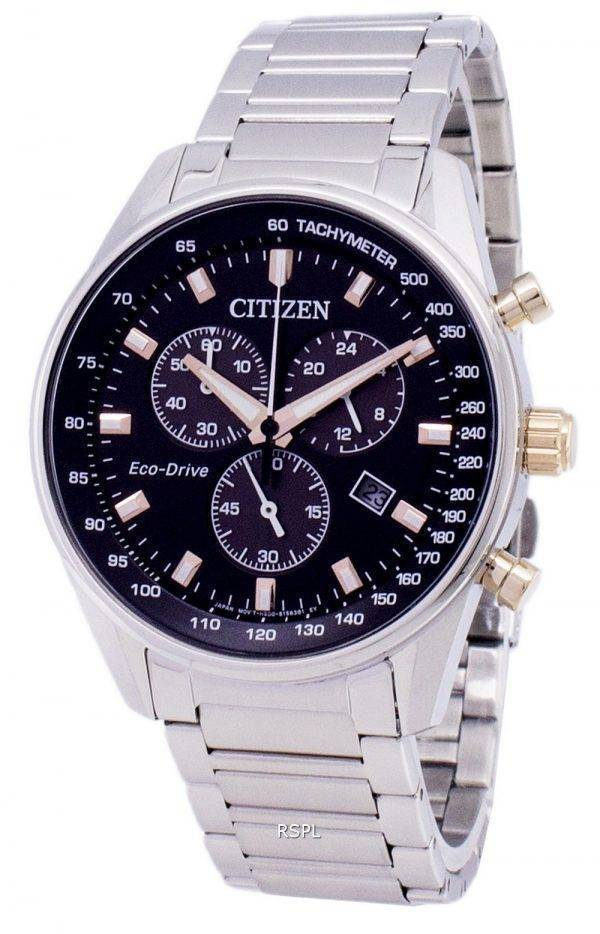 Montre Citizen Eco-Drive chronographe tachymètre AT2396-86F masculine