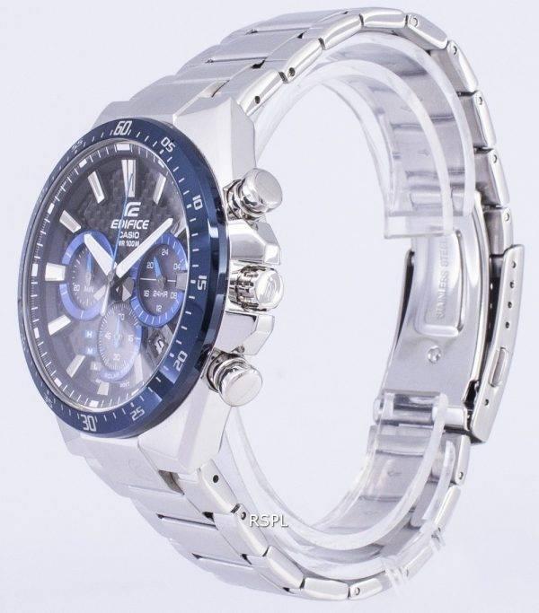 Montre chronographe solaire Casio Edifice EQS-800CDB-1BV EQS800CDB-1BV masculine