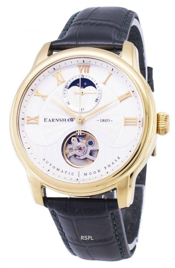 Longitude de Thomas Earnshaw Moon Phase automatique ES-8066-03 montre homme