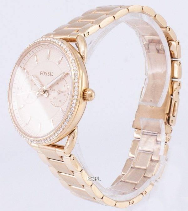 Fossile de tailleur multifonction Quartz diamant Accents ES4264 Women Watch