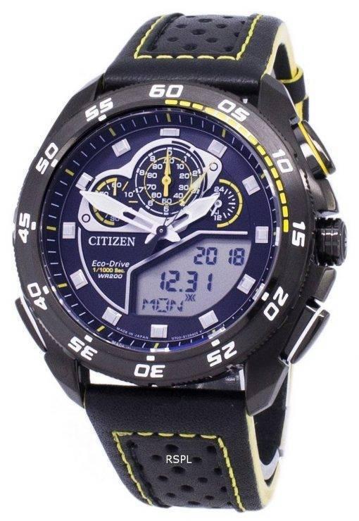 Citizen Promaster Eco-Drive Chronograph 200M Japon faite JW0127-04f montre homme