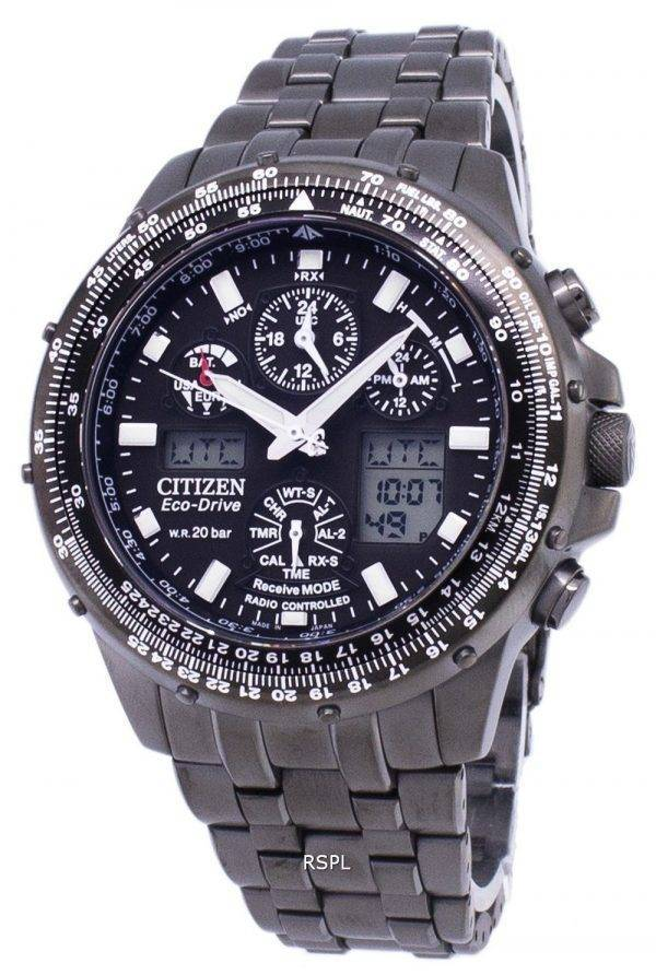 Citizen Promaster Eco-Drive Power Reserve Radio commandé 200M JY0039-58E montre homme