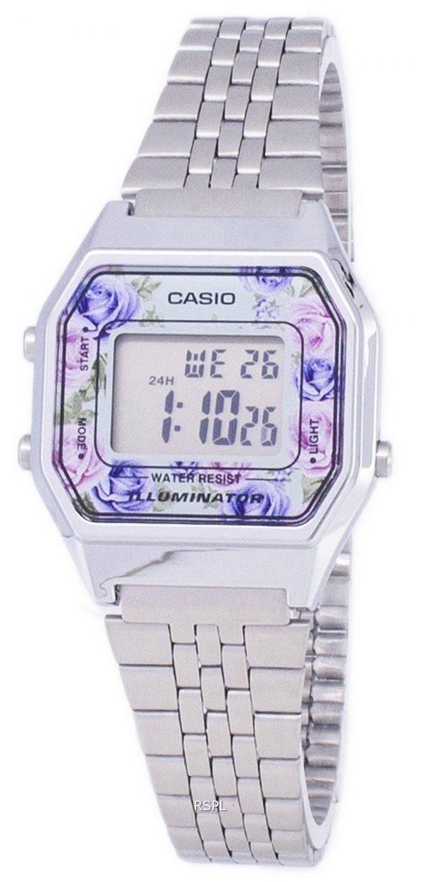 Montre Casio jeunesse Vintage illuminateur Quartz Digital LA680WA - 2C féminines