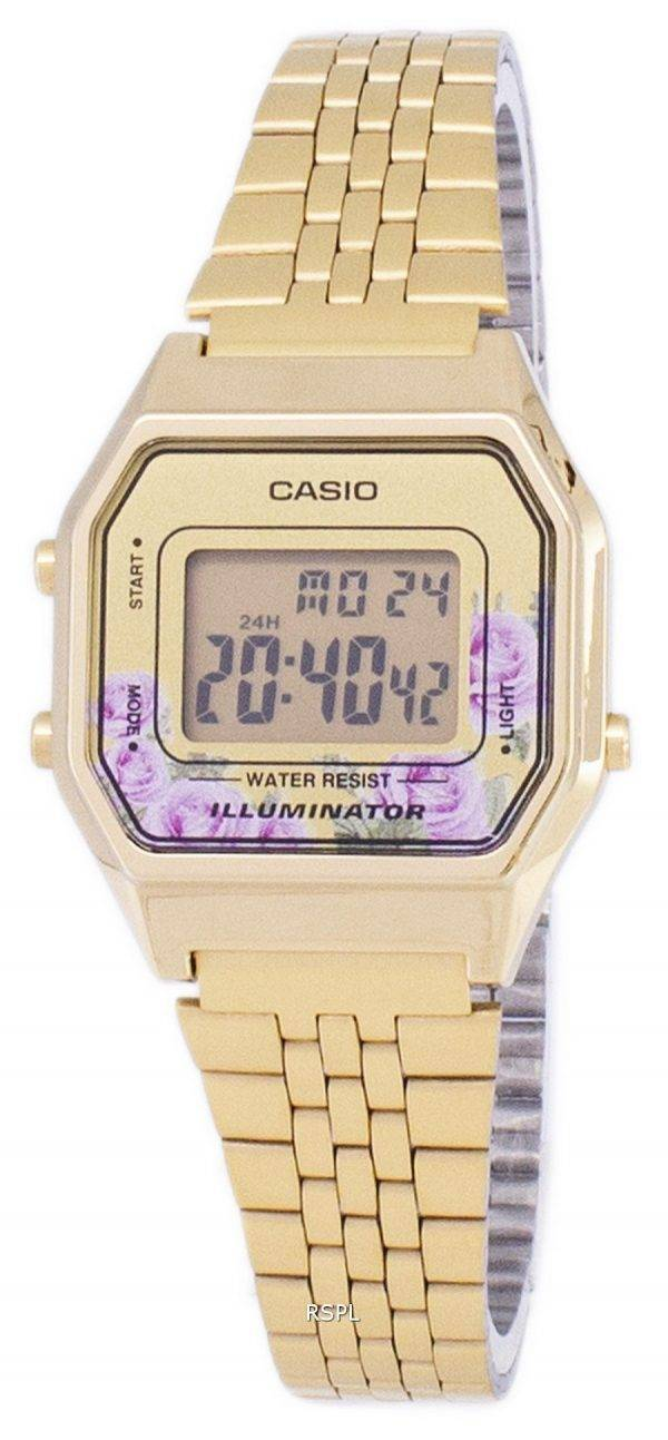 Montre Casio Vintage illuminateur Quartz Digital LA680WA - 4C féminin