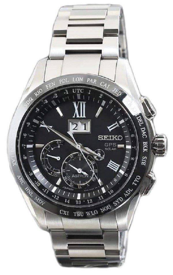 Seiko Astron SBXB137 GPS solaire calendrier perpétuel de grande Date Dual Time montre homme