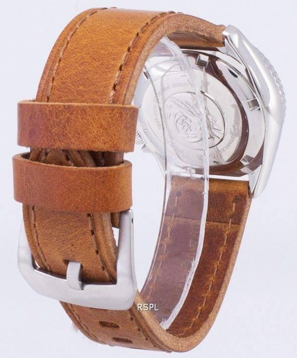 Seiko automatique SKX013K1-MS4 Diver 200M cuir marron bracelet montre homme