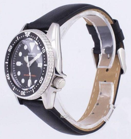 Seiko automatique SKX013K1-MS5 Diver 200M cuir noir bracelet montre homme