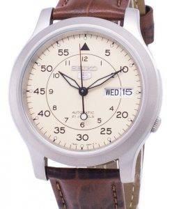 Seiko 5 SNK803K2 militaire-SS2 automatique cuir marron bracelet montre homme