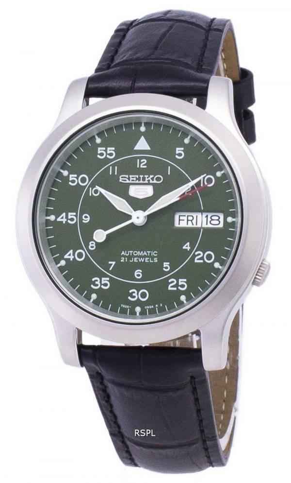 Seiko 5 militaire SNK805K2-SS1 automatique cuir noir bracelet montre homme