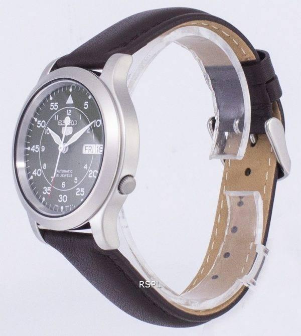 Seiko 5 militaire SNK805K2-SS4 automatique cuir marron bracelet montre homme