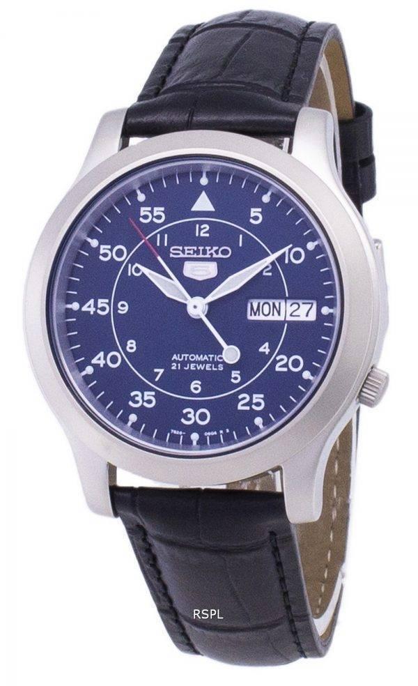 Seiko 5 militaire SNK807K2-SS1 automatique cuir noir bracelet montre homme