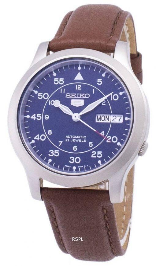 Seiko 5 militaire SNK807K2-SS5 automatique cuir marron bracelet montre homme