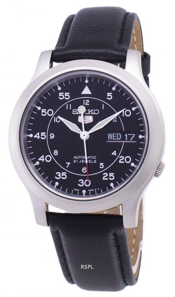 Seiko 5 militaire SNK809K2-SS3 automatique cuir noir bracelet montre homme