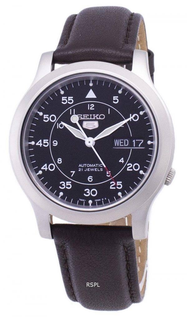 Seiko 5 militaire SNK809K2-SS4 automatique cuir marron bracelet montre homme