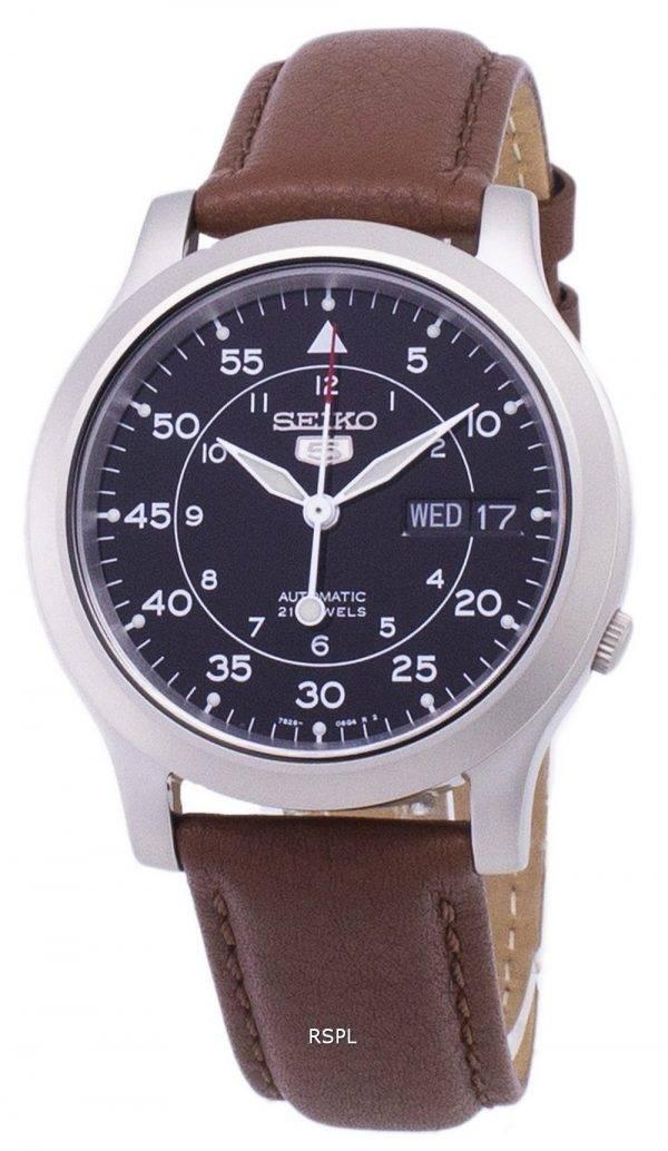 Seiko 5 militaire SNK809K2-SS5 automatique cuir marron bracelet montre homme