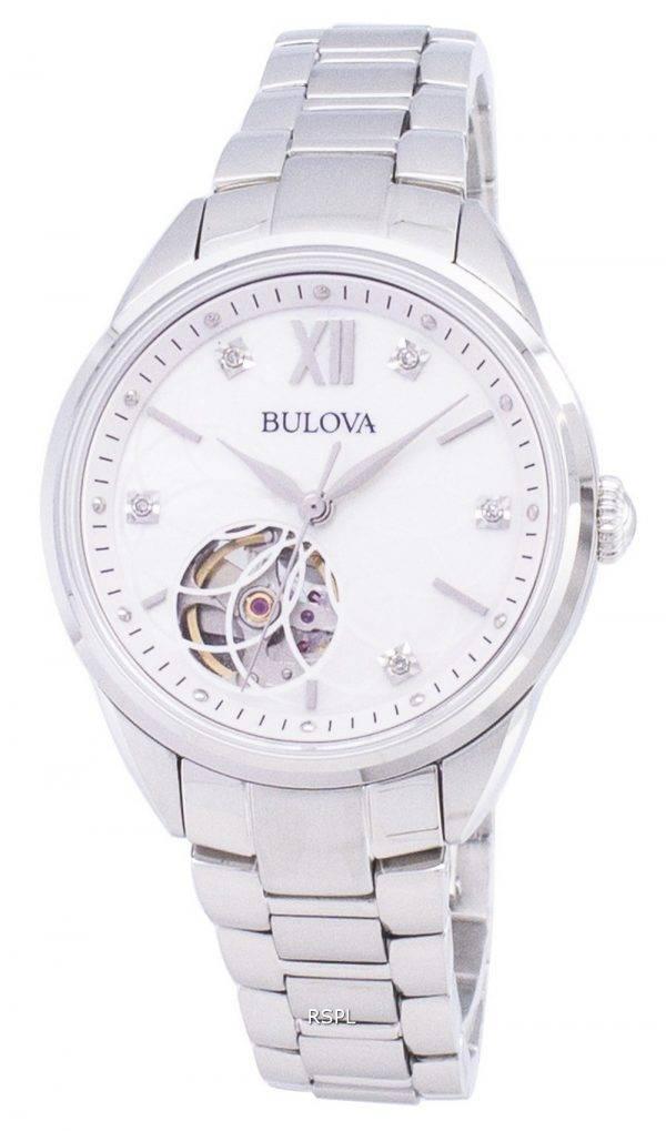 Montre Bulova automatique 96 P 181 diamant Accents féminin