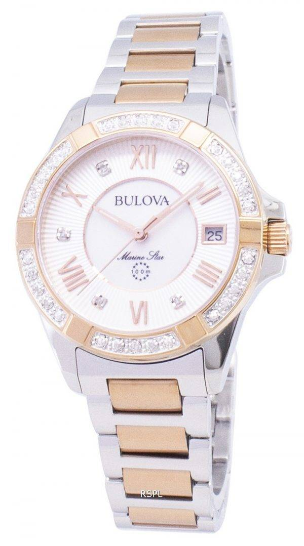 Montre Bulova Marine Star 98R234 diamant Accent Quartz féminin