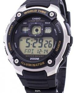 Jeunesse de Casio AE-2000W-9AV illuminateur 200M numérique montre homme