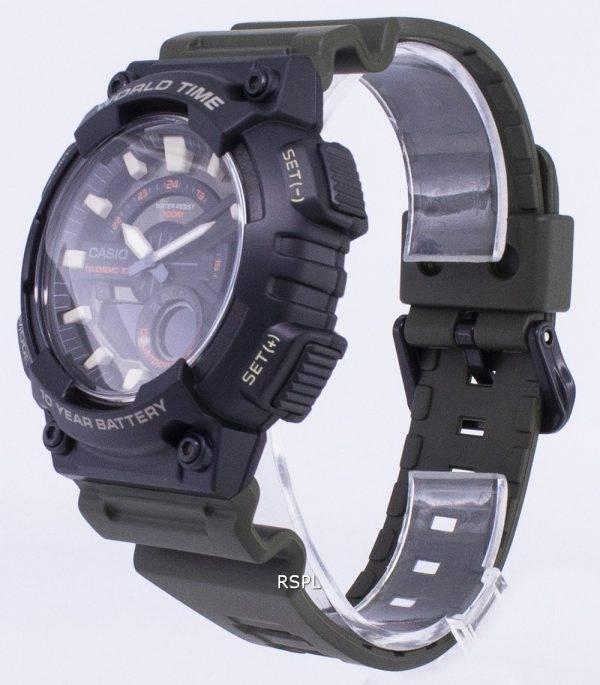 Casio jeunesse combinaison AEQ-110W-3AV sport Watch masculine Digital