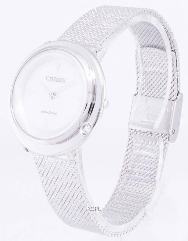 L Citizen Eco-Drive EM0640-82D analogiques diamant Accents Women Watch
