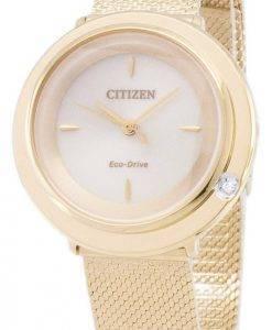 L Citizen Eco-Drive EM0642 - 87P analogiques diamant Accents Women Watch