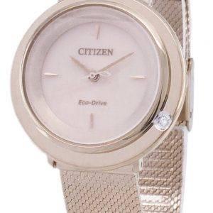 L Citizen Eco-Drive EM0643-84 X analogique diamant Accents Women Watch